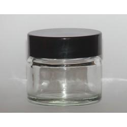 Pommadier verre blanc capuchon noir 15 ml