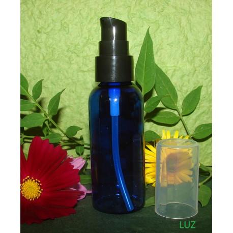 Flacon pompe PET bleu 50 ml