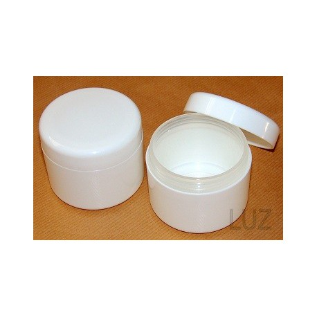 Pot double parois Blanc PP 120 ml