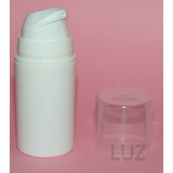 Flacon Airless blanc opaque 15 ml